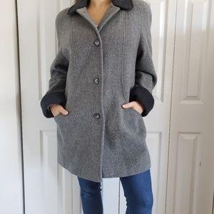 Vintage Cabin Creek Wool Blend Gray Coat Jacket